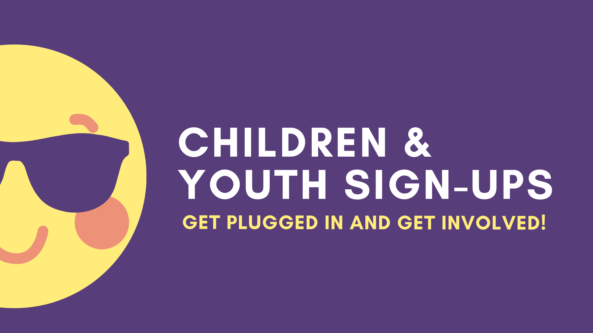 children & Youth sign-ups