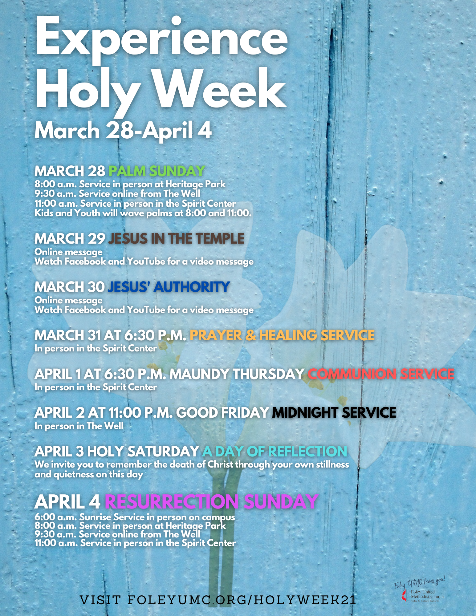 Holy Week '21 letter size