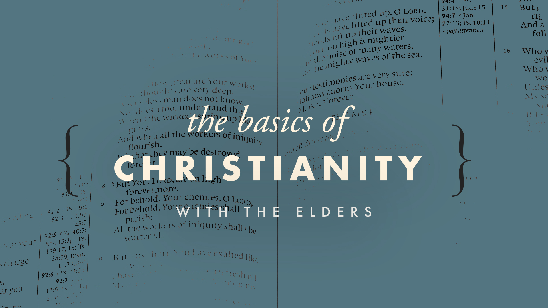 The Basics of Christianity banner