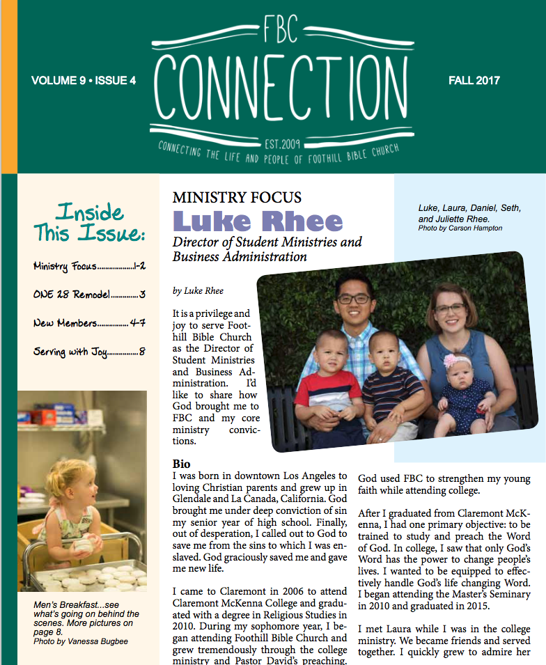 FBC Connection fall 17 cover