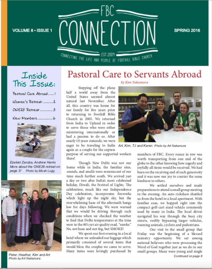 FBC Connection Spring 2016 Cover