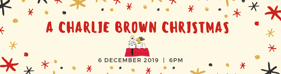A Charlie Brown Christmas banner