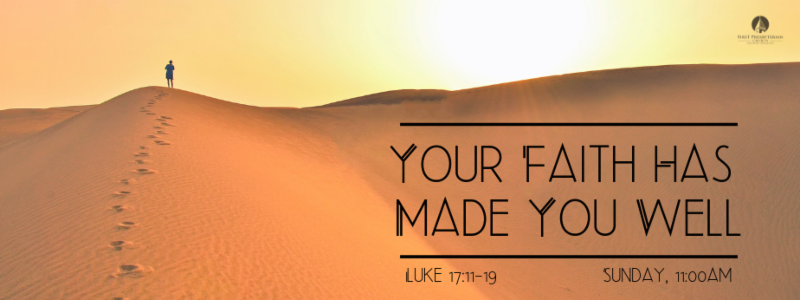 Your Faith Has Made You Well banner