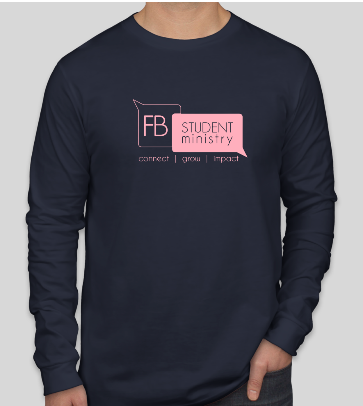 Winter Retreat Navy long sleeve