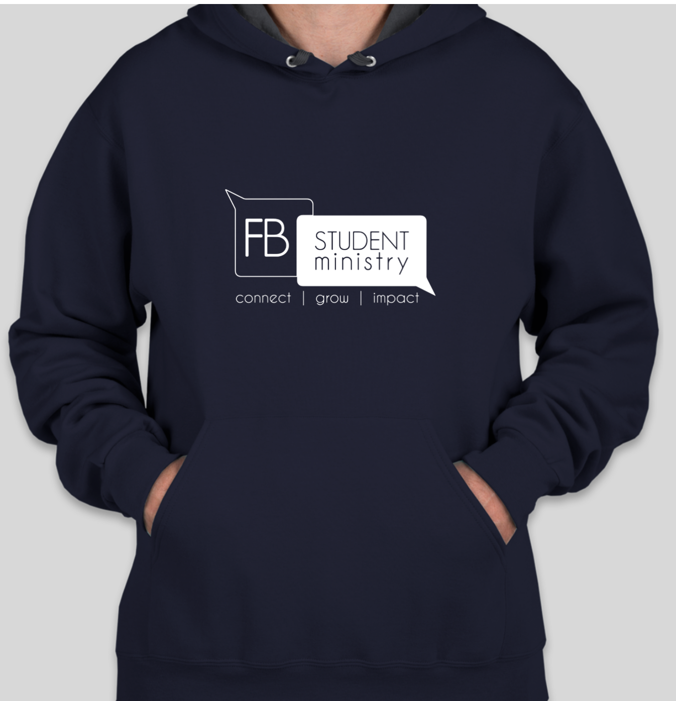 Winter Retreat Navy Hoodie