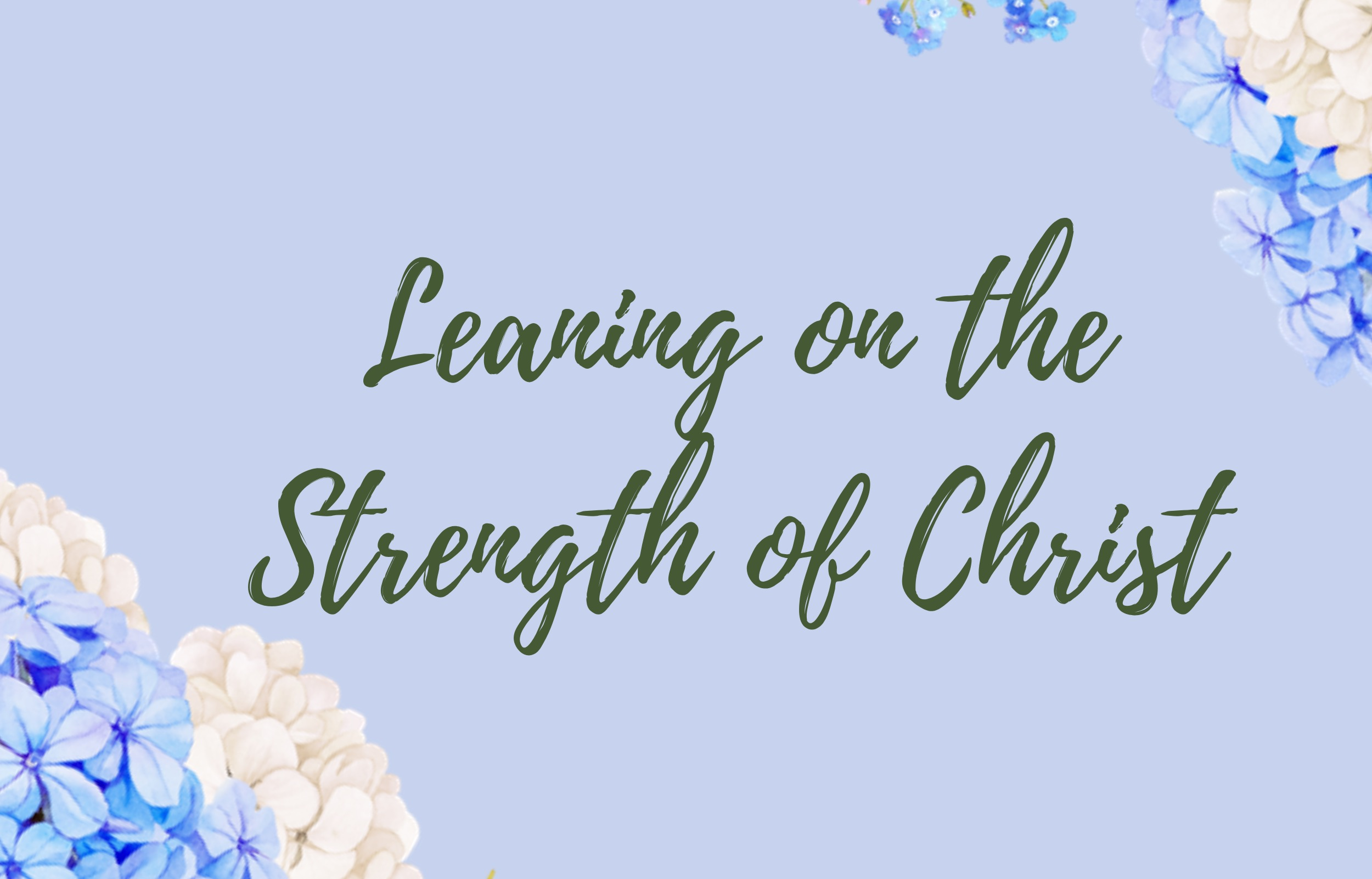 Susie Spurgeon: Leaning on the Strength of Christ banner