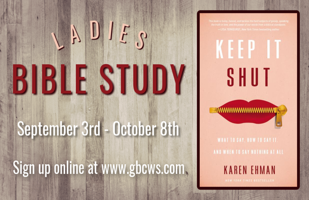 Ladies Bible Study - Keep it Shut Event Size image