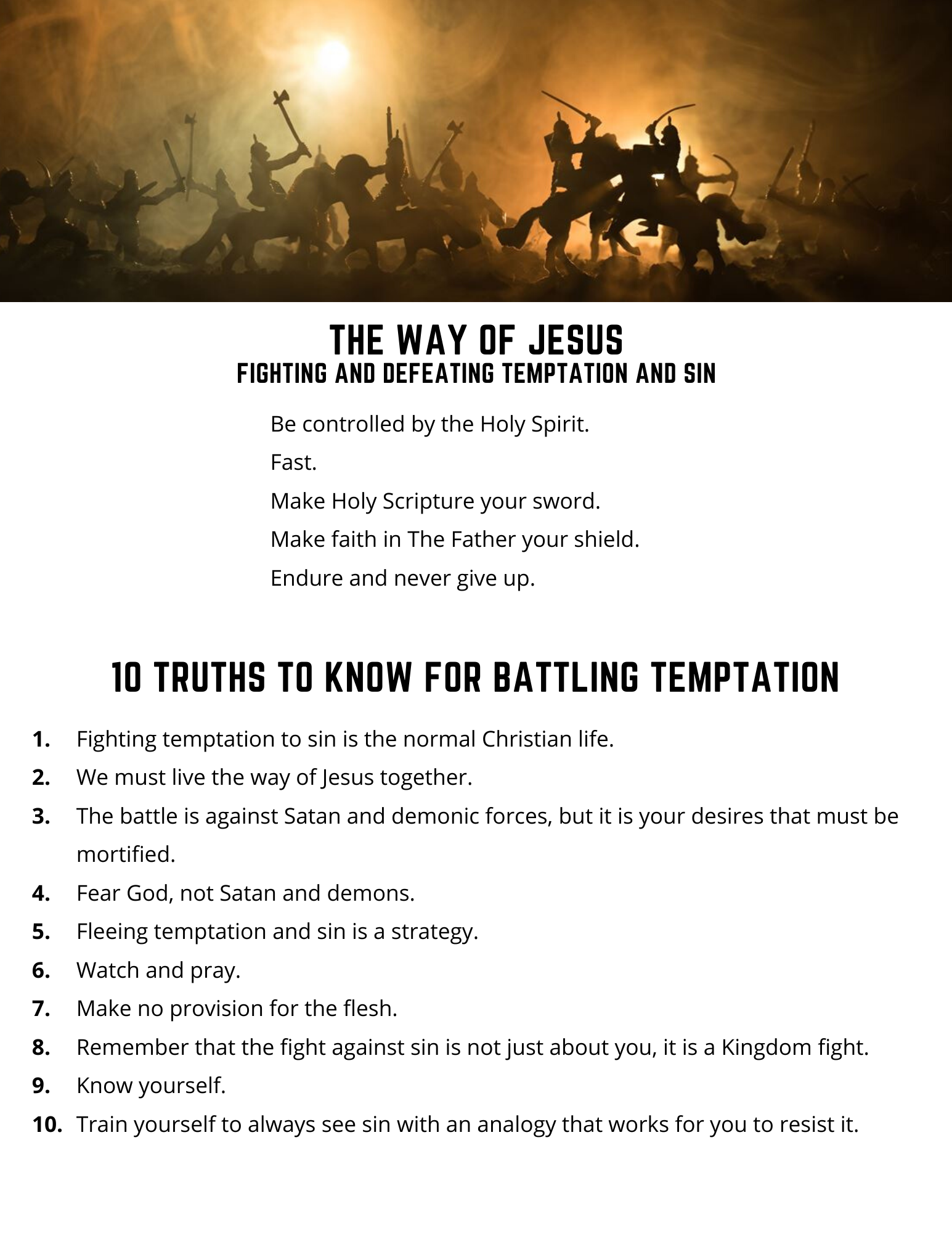10 Truths to Know for Battling Temptation