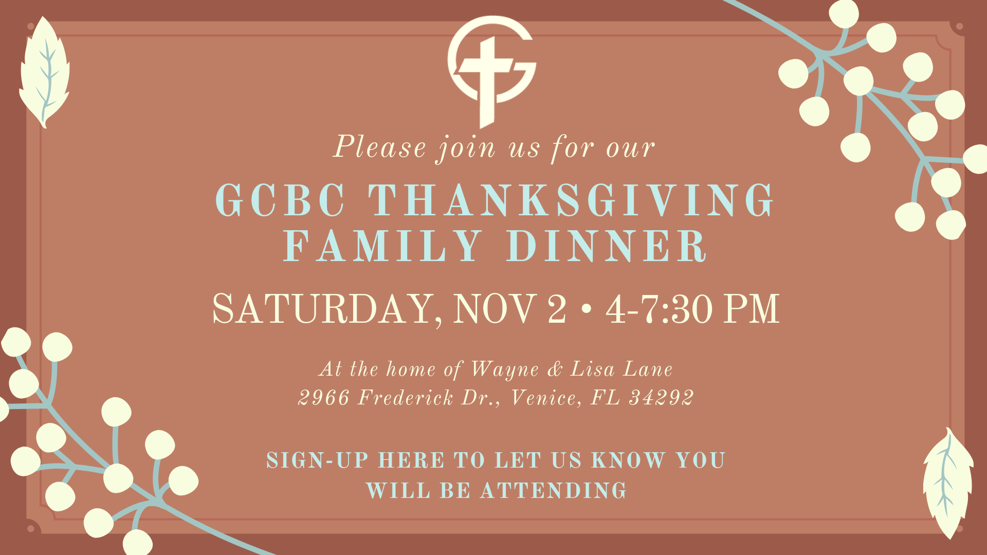 Copy of Coral Leaves Thanksgiving Invitation-5
