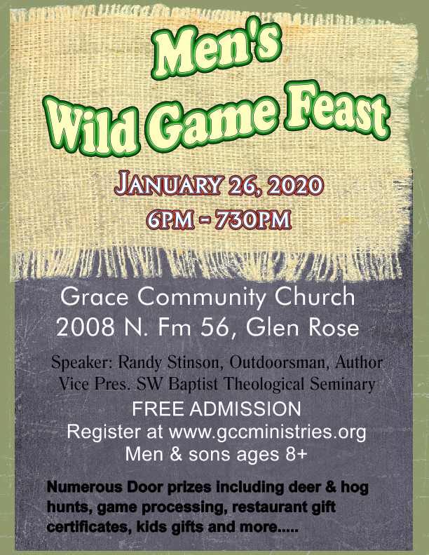 2020 Game Feast Flyer