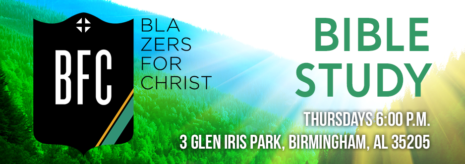 Blazers for Christ Bible Study banner