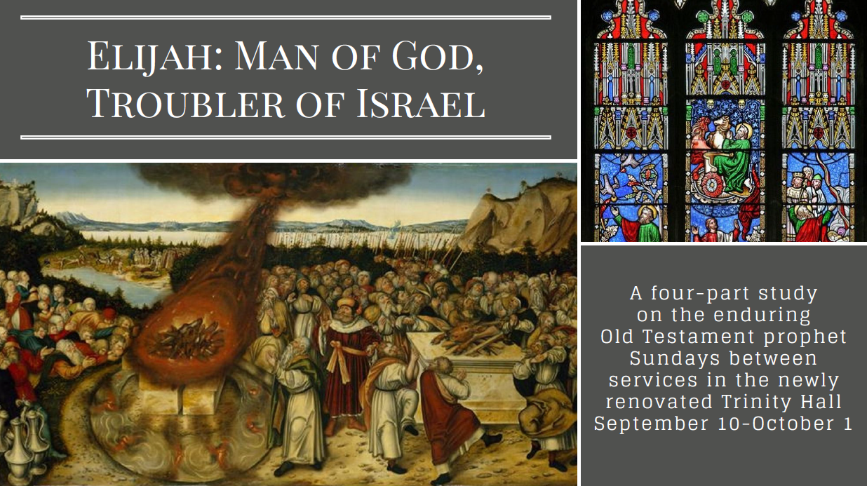 Elijah - Man of God, Troubler of Israel