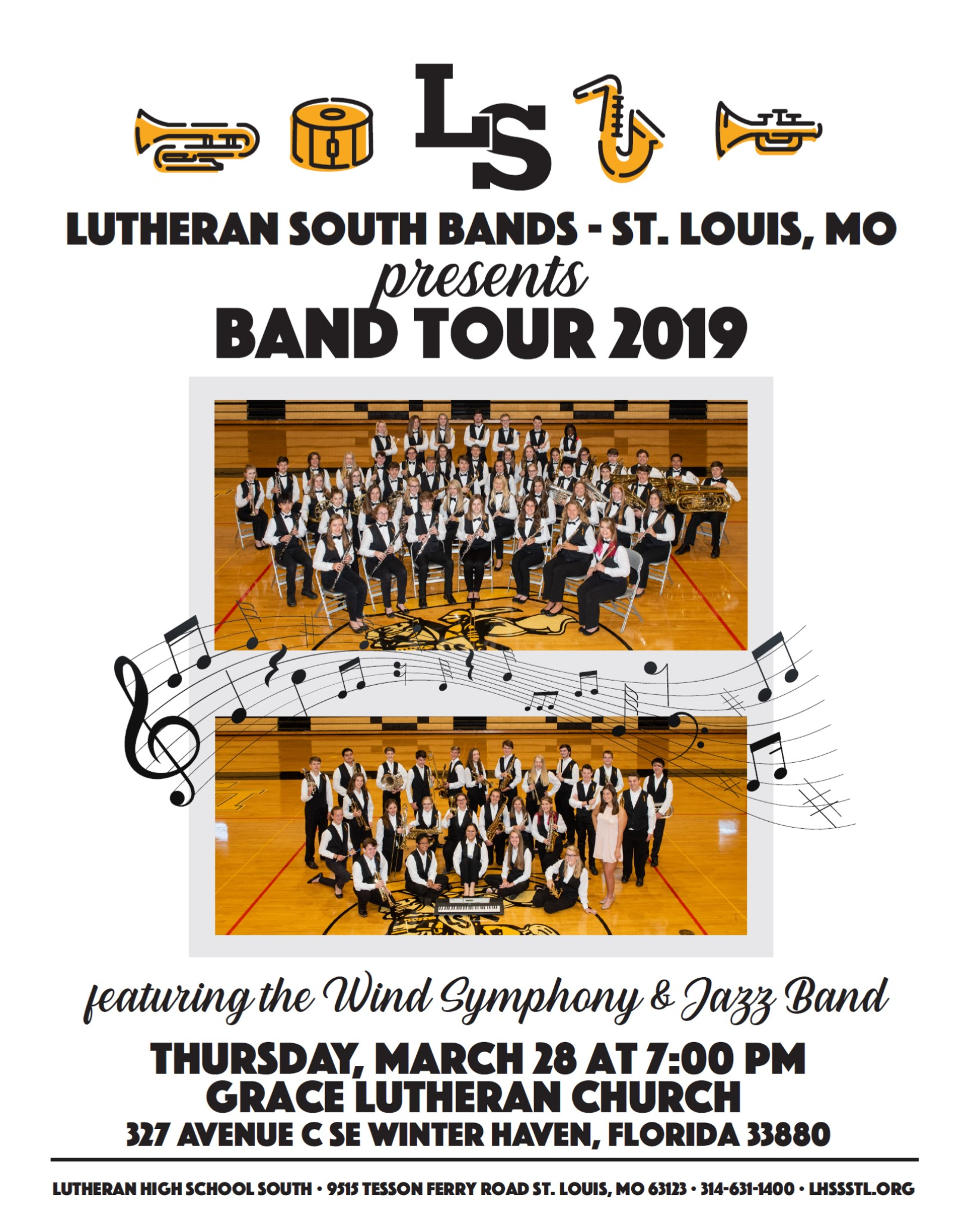 Lutheran South High School Bands 2019
