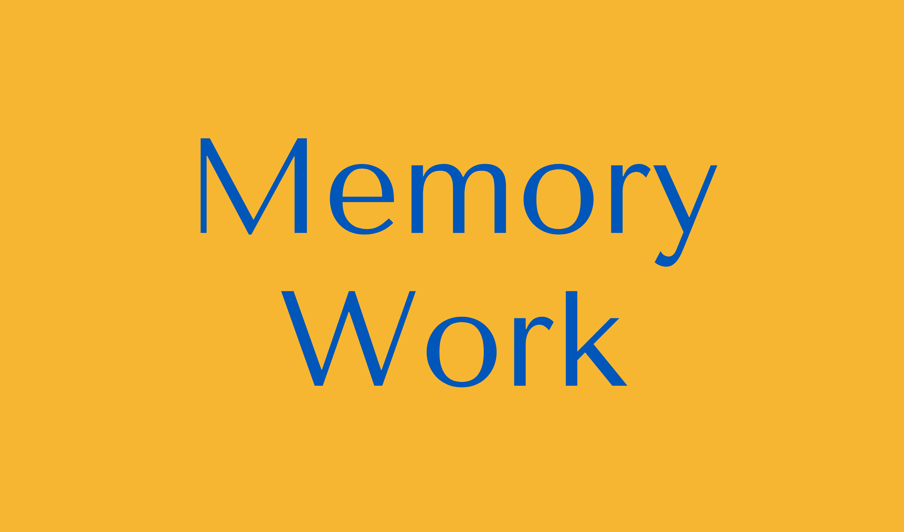 Memory Work Button