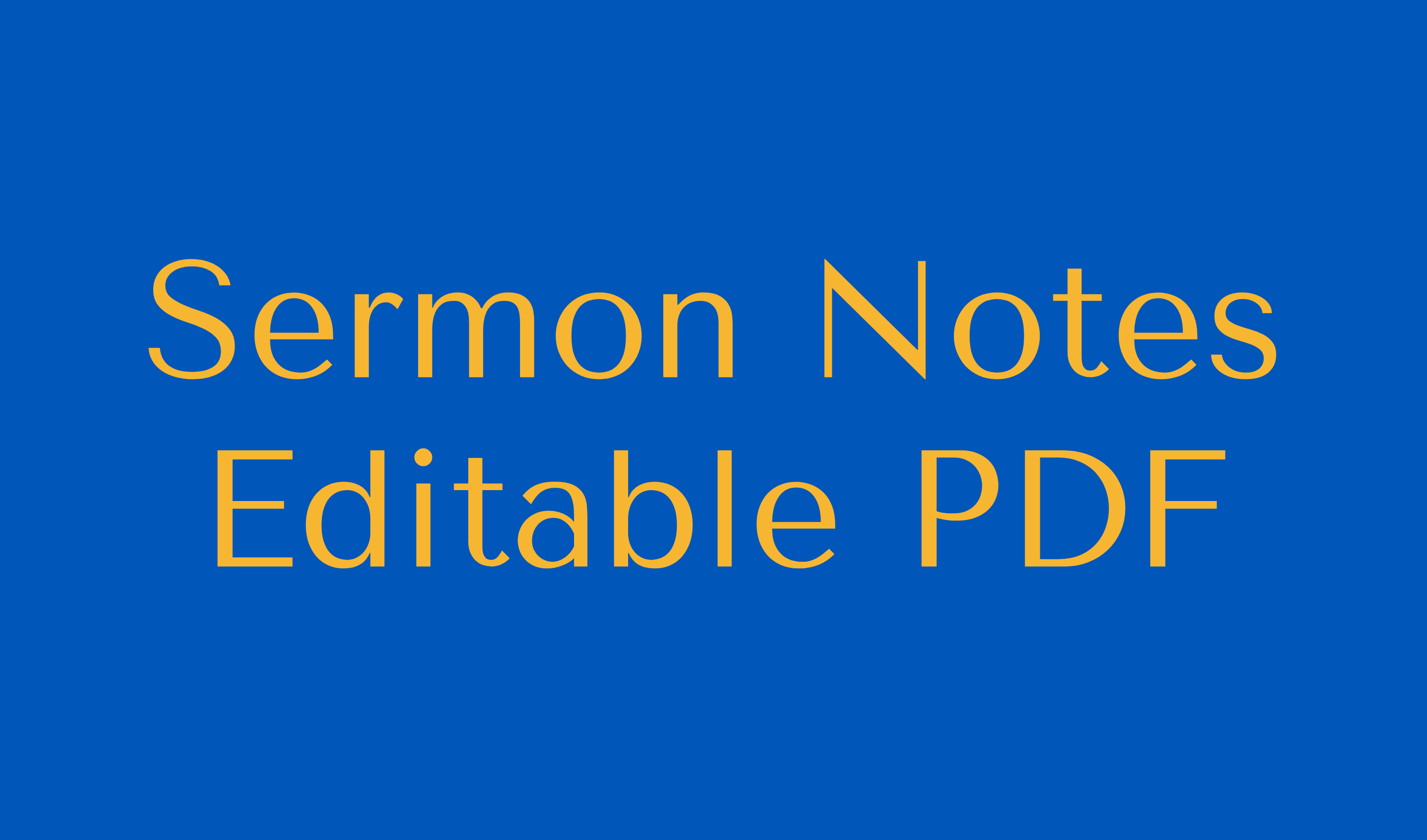 Sermon Notes Editable PDF Button