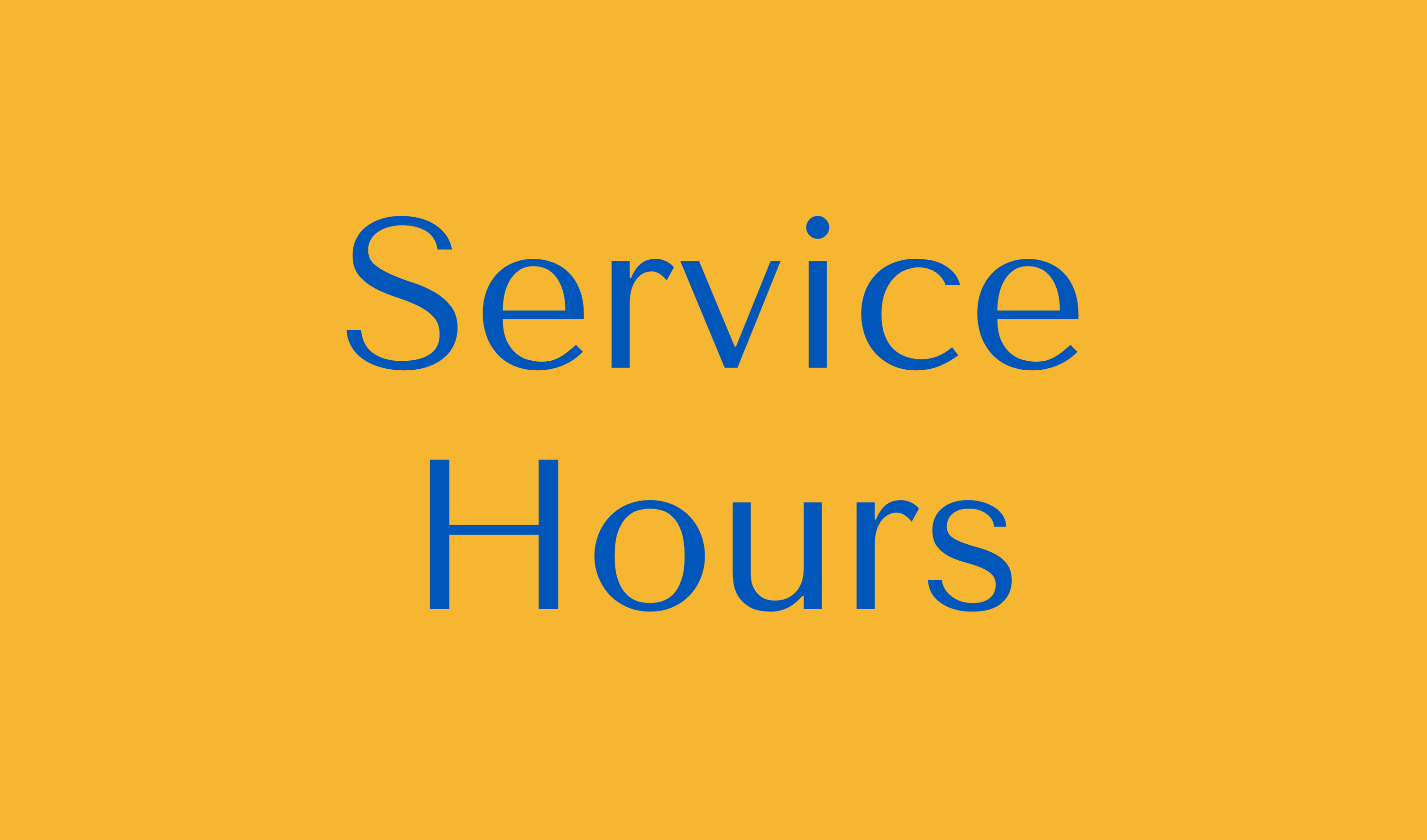 Service Hours Button
