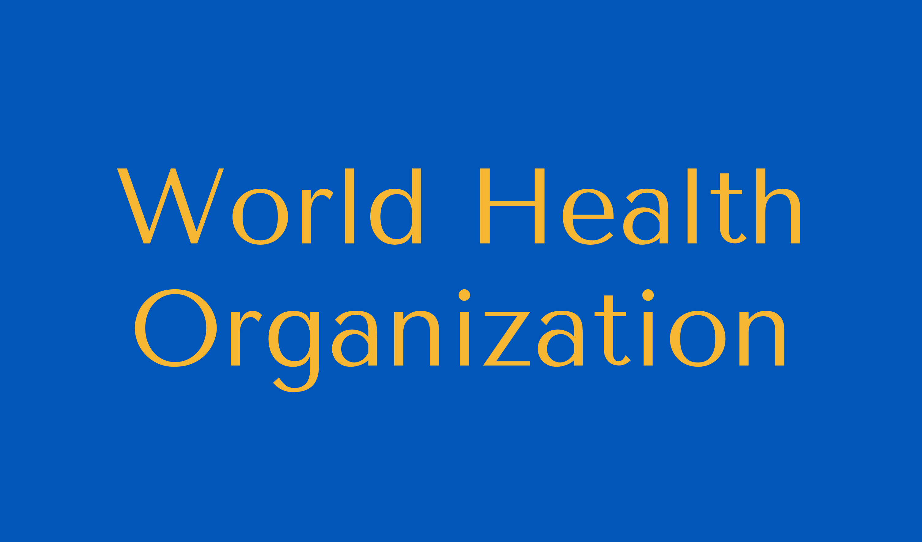World Health Organization Button