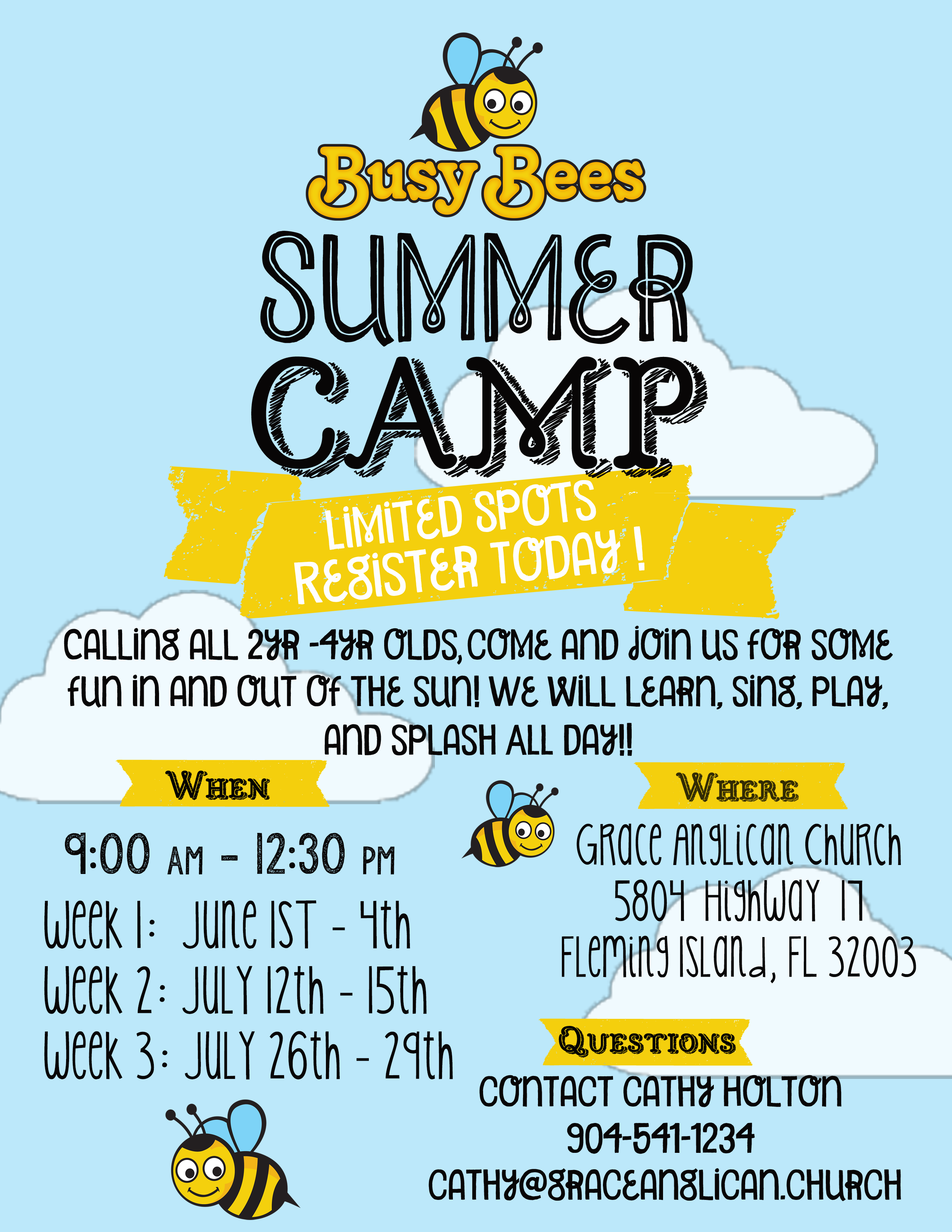 busy bees summer flyer 2021