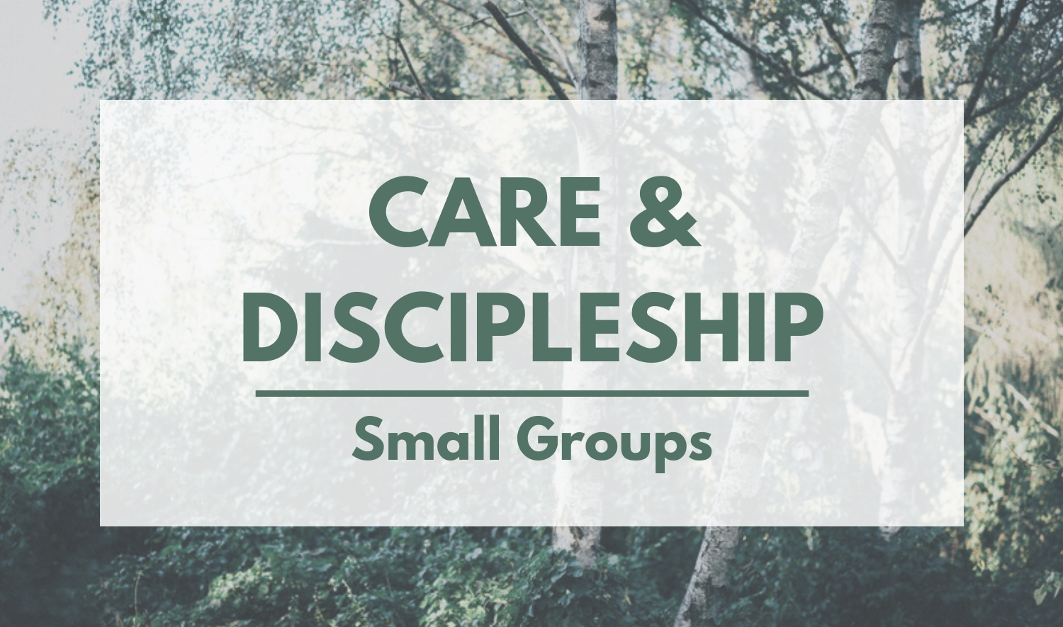 Care & Discipleship - Ministries