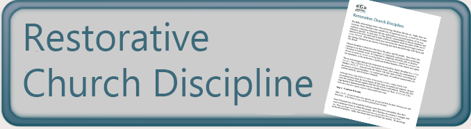 Restorative Church Discipline Button