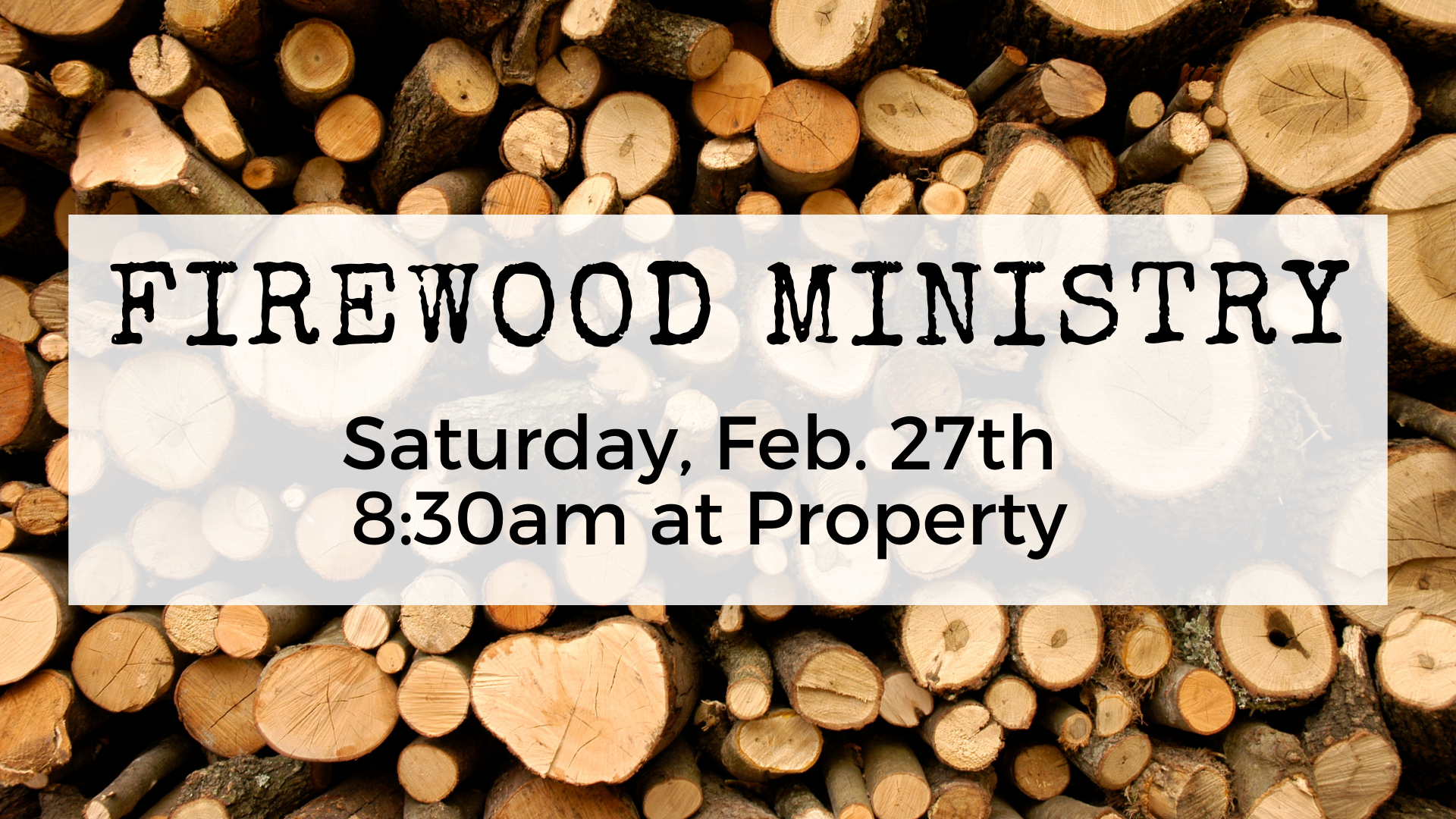 Copy of Firewood ministry1