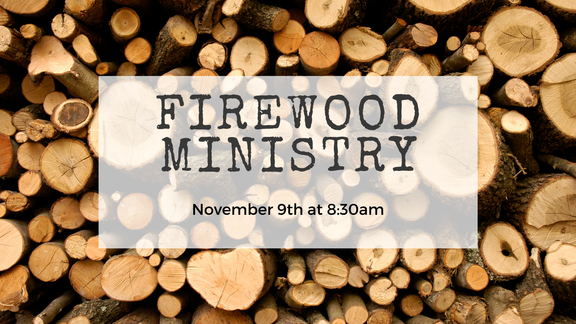 Firewood ministry image