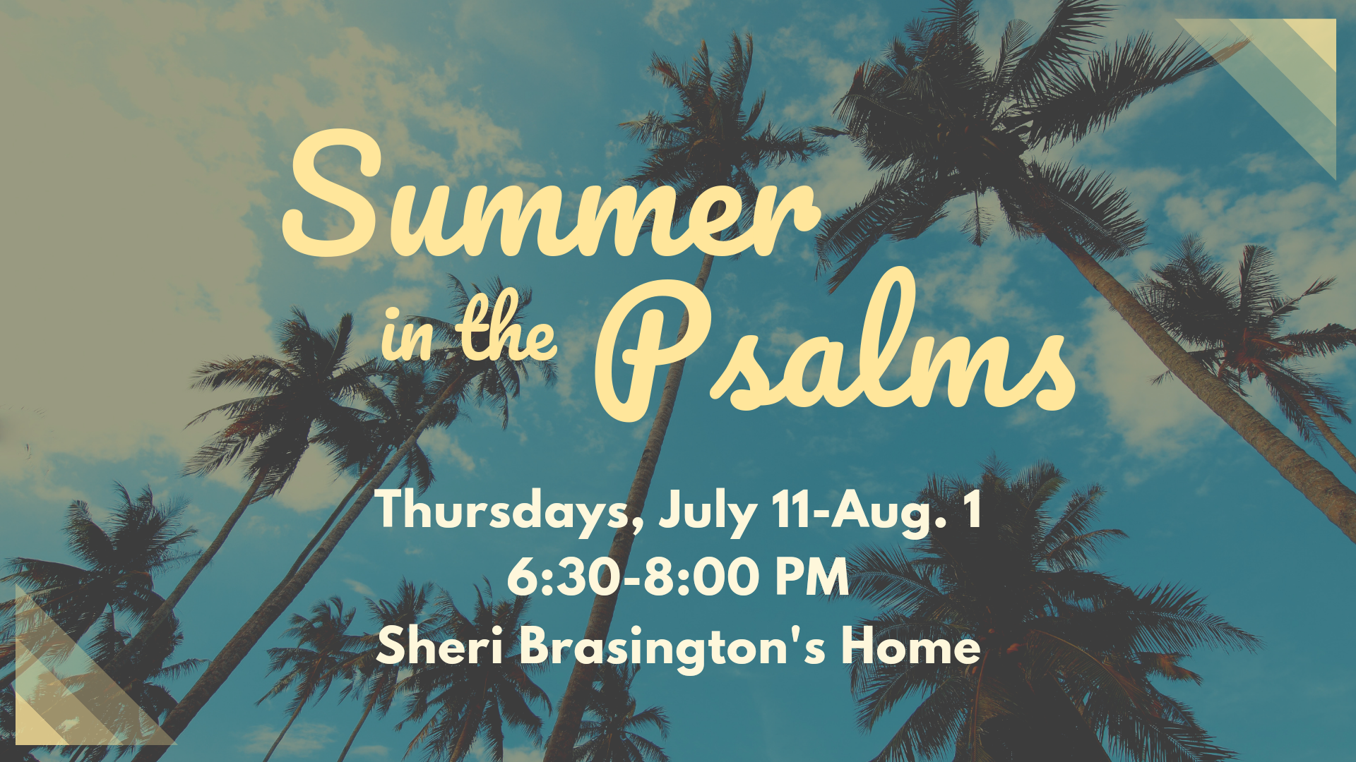 Summer in The psalms cover image