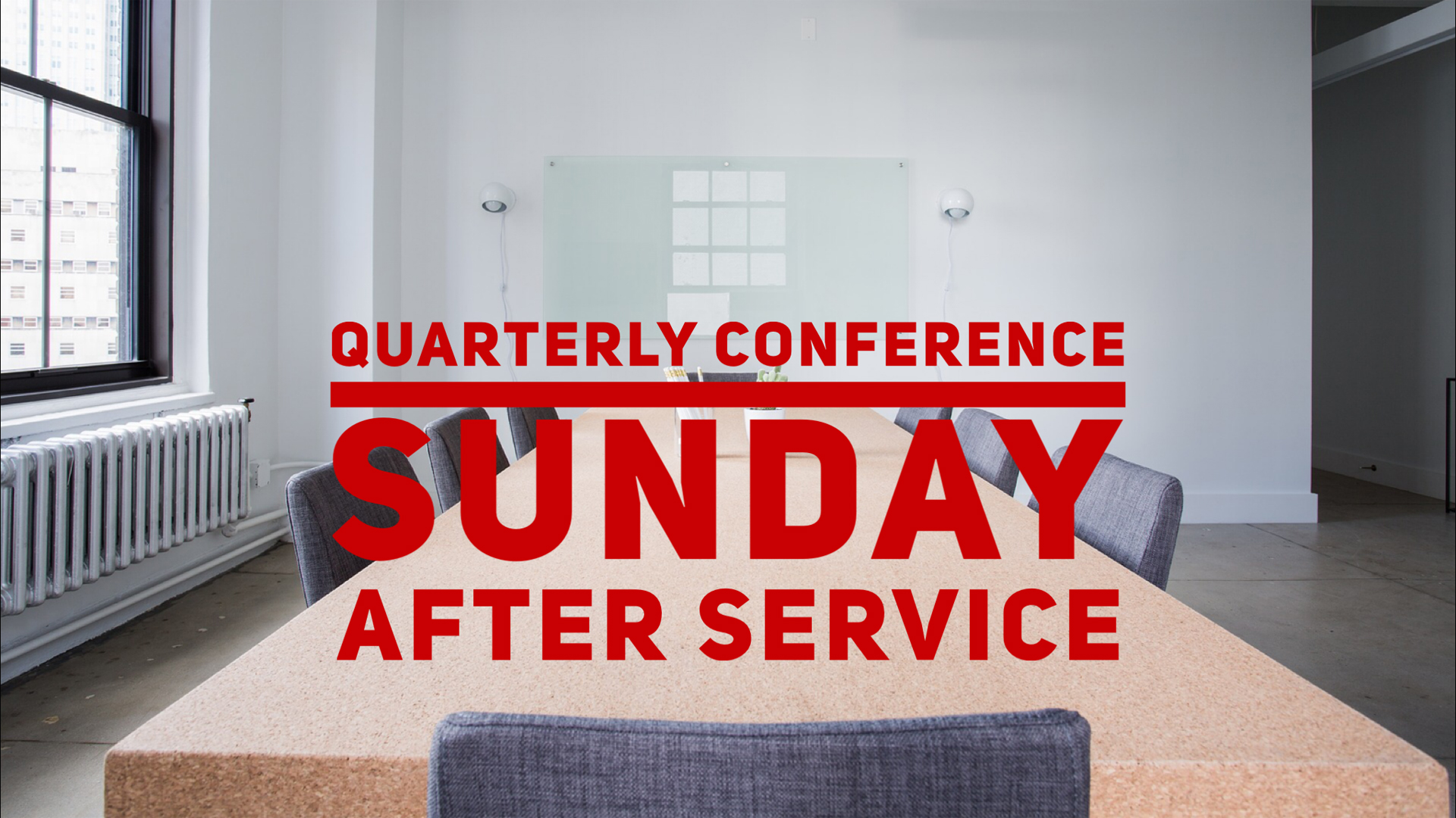 Conference Sunday