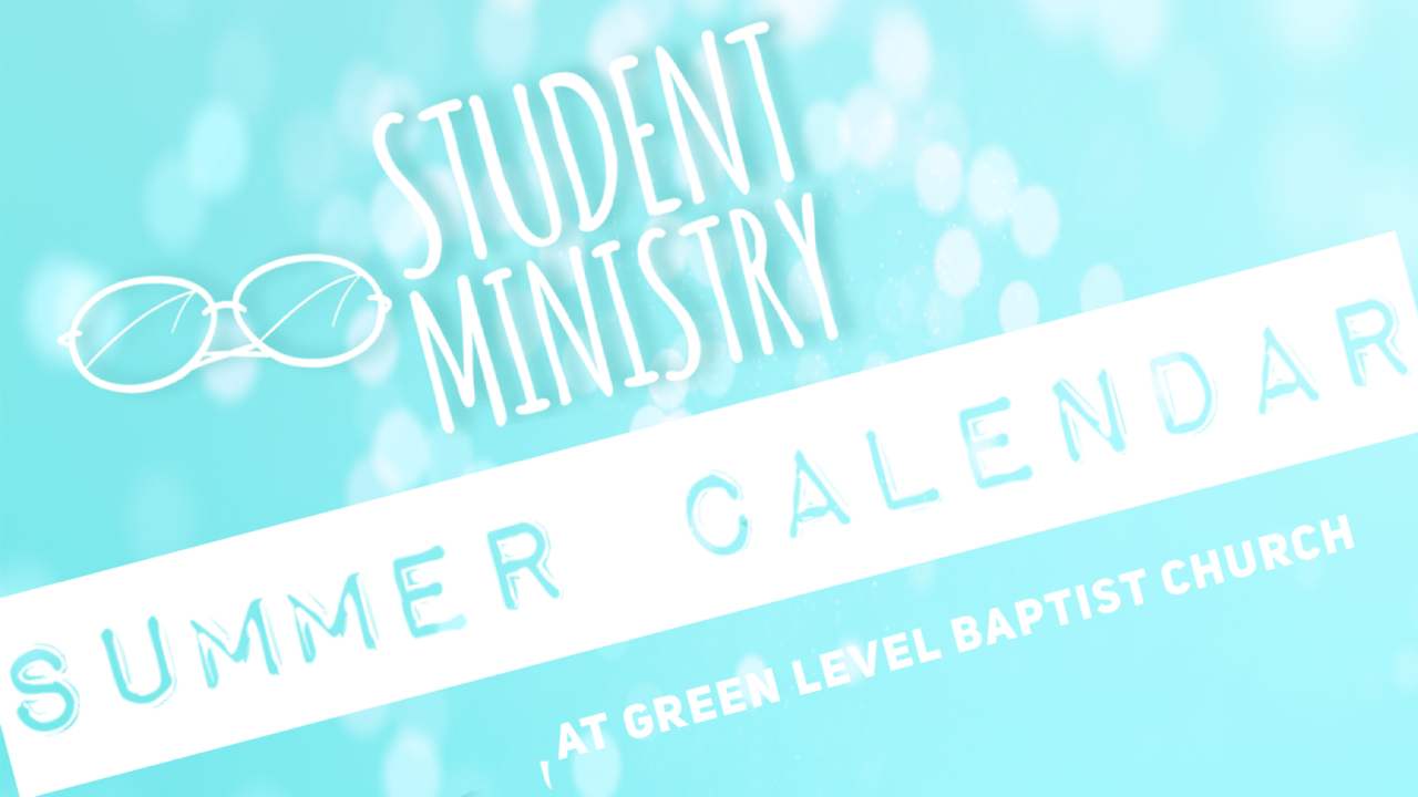 student ministry calendar 2020