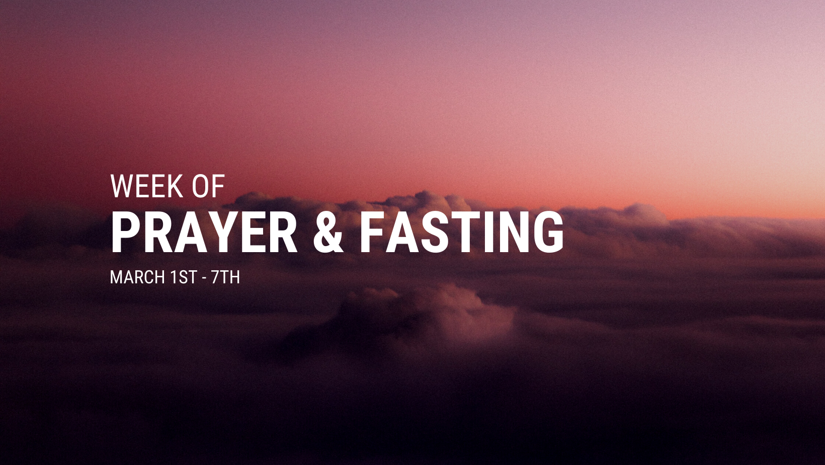 week of prayer and fasting 2021