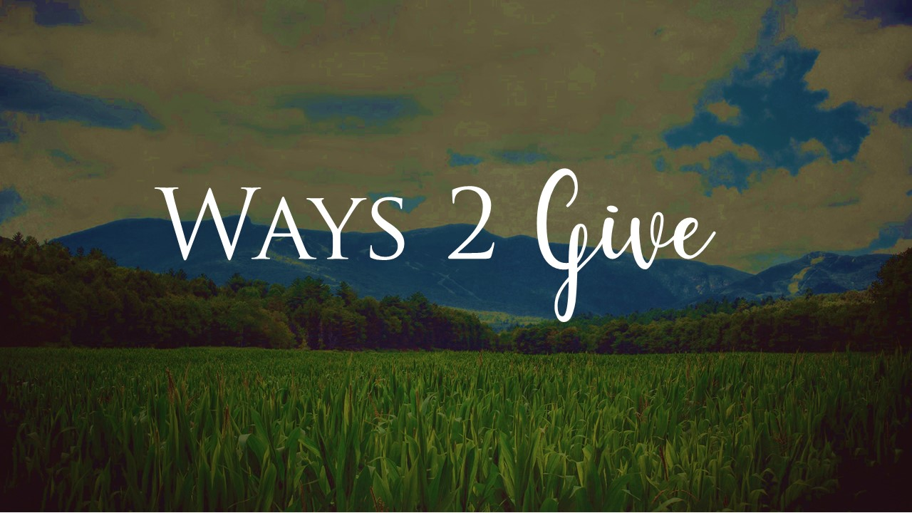 Ways 2 give Online
