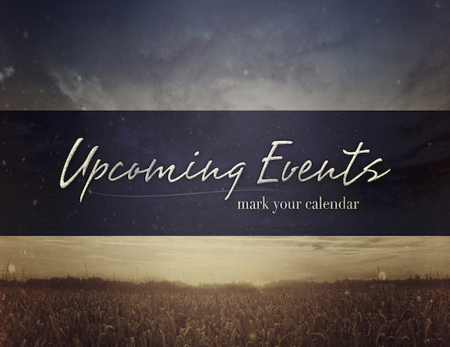 Upcoming Events Pic