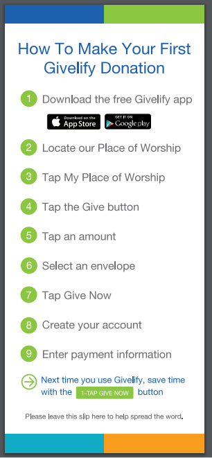 Givelify directions