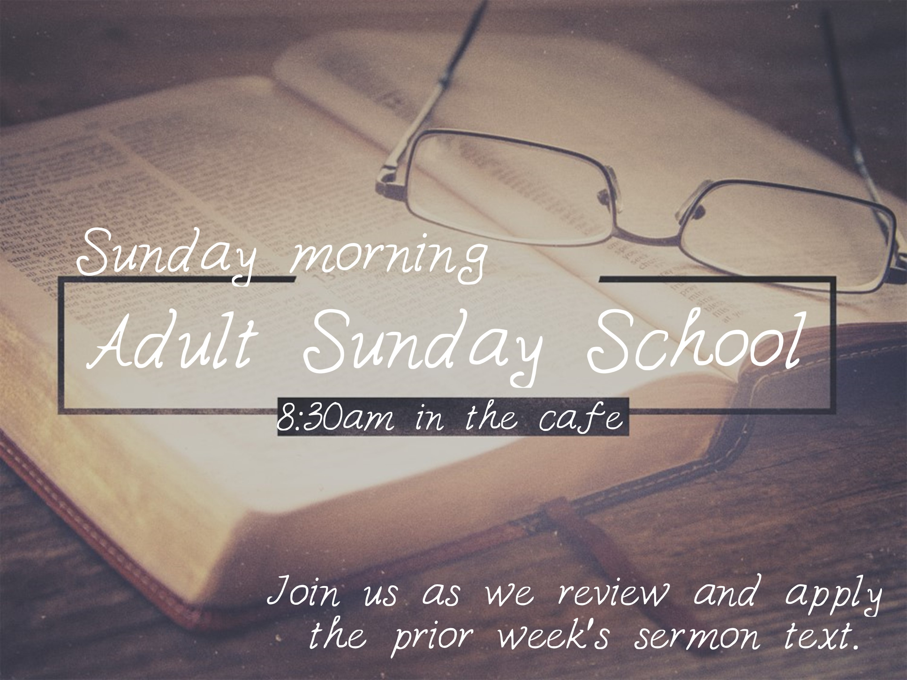 Adult Sunday school image