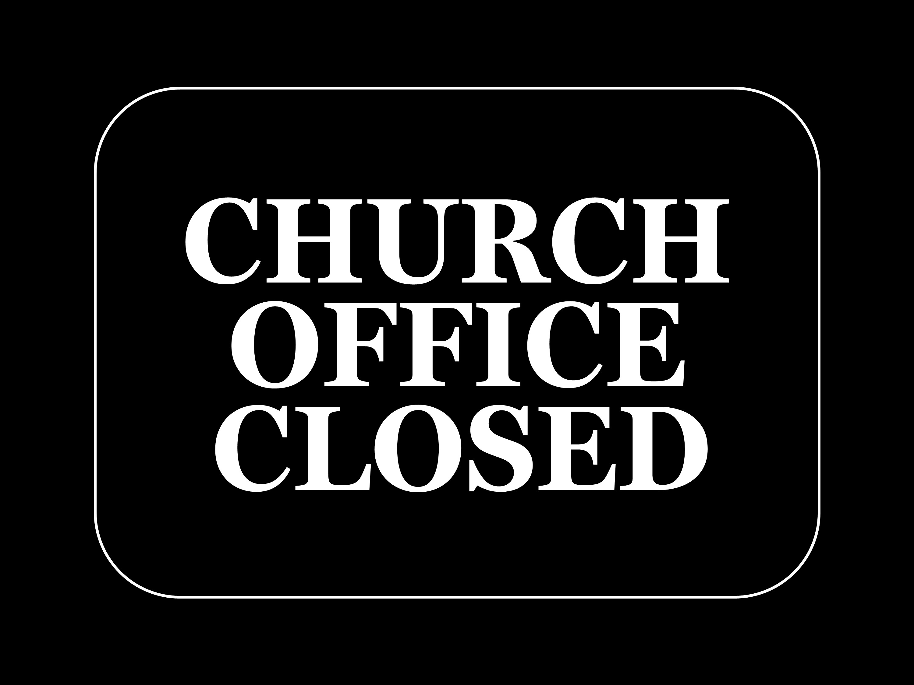 Church office closed image