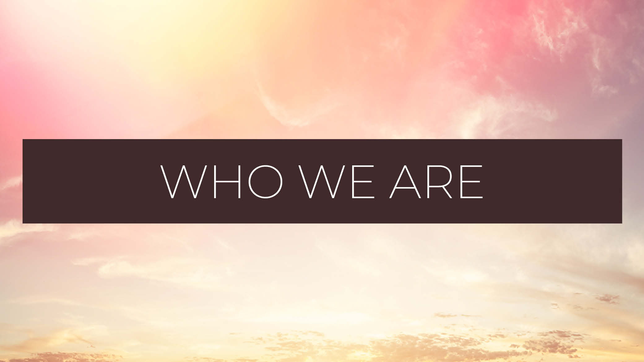 Who we are blog