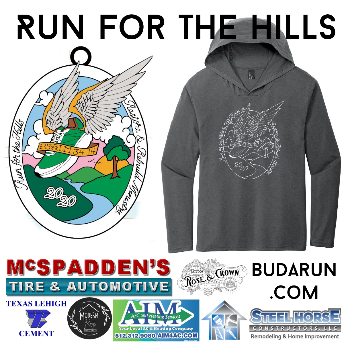Run for the Hills Medal Hoodie Sponsors