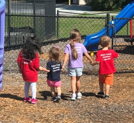 holding hands preschool