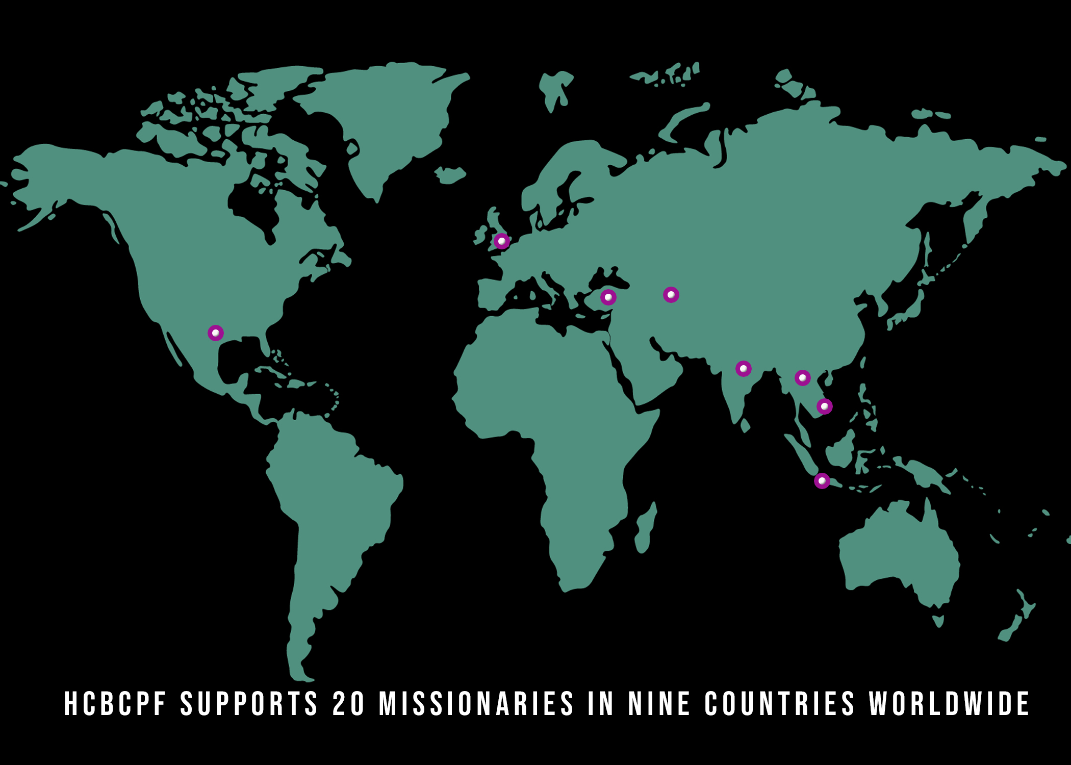 Map of Missionaries 2019-20 UPDATE