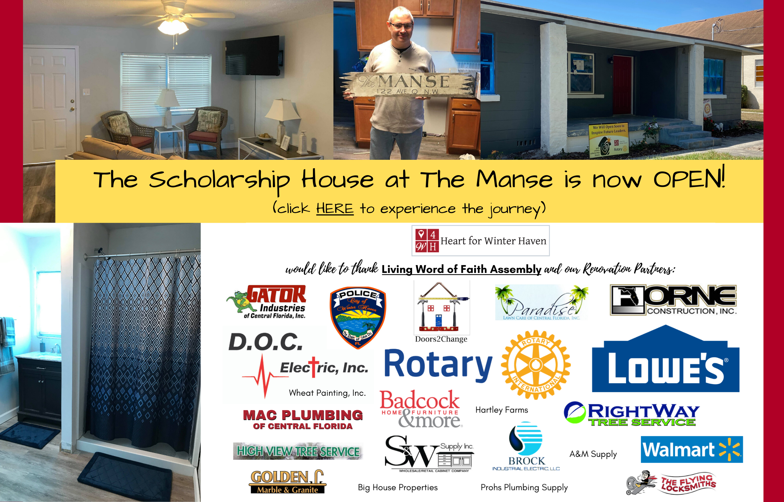 The Scholarship House is now OPEN!