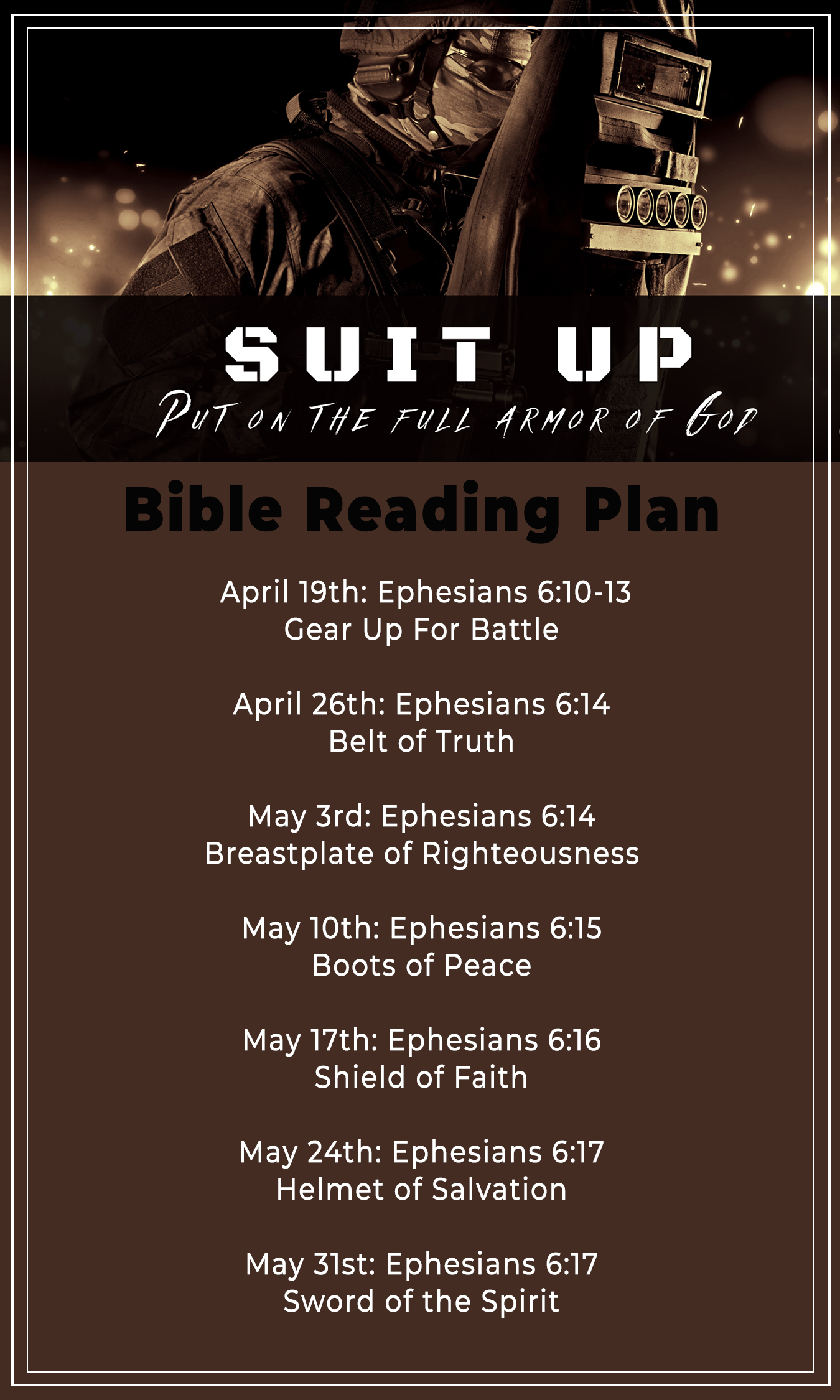 Suit Up Reading Plan