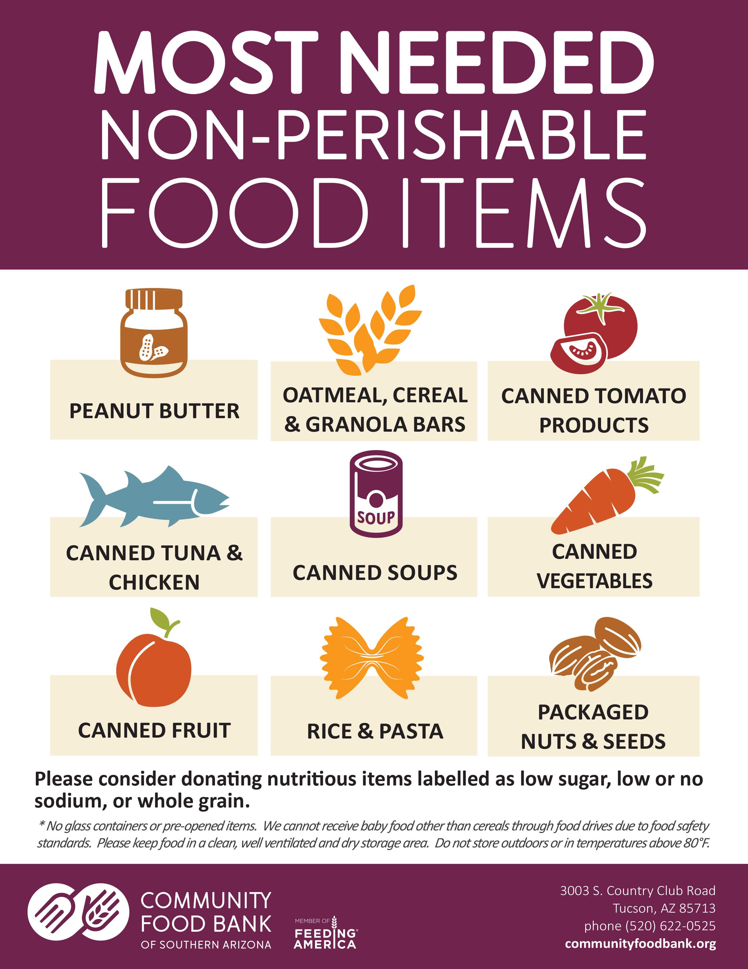 Most Needed Food Items FNL