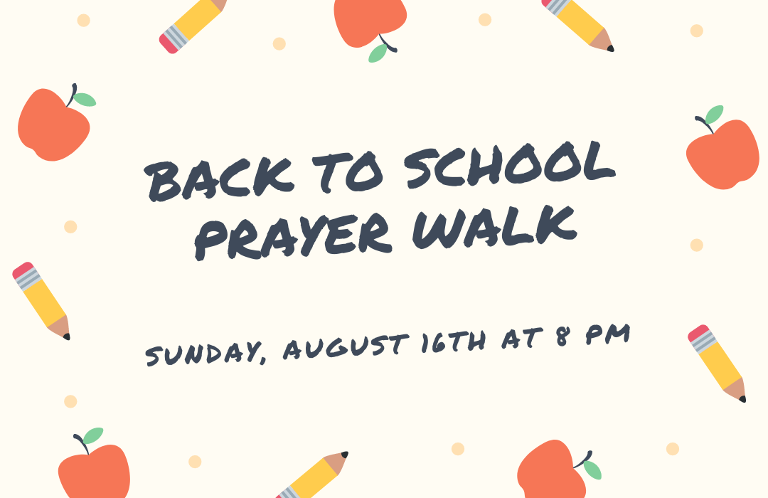 Back to school prayer walk image