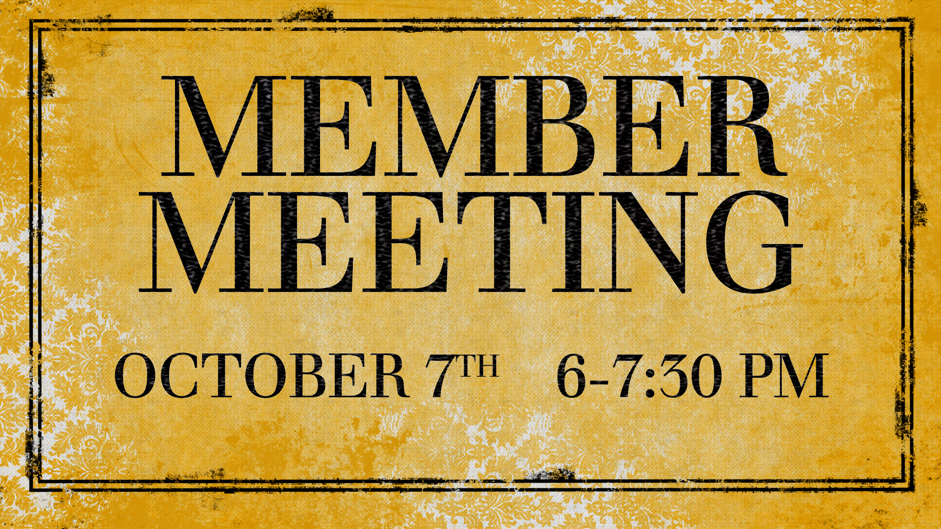 Member Meeting October 7