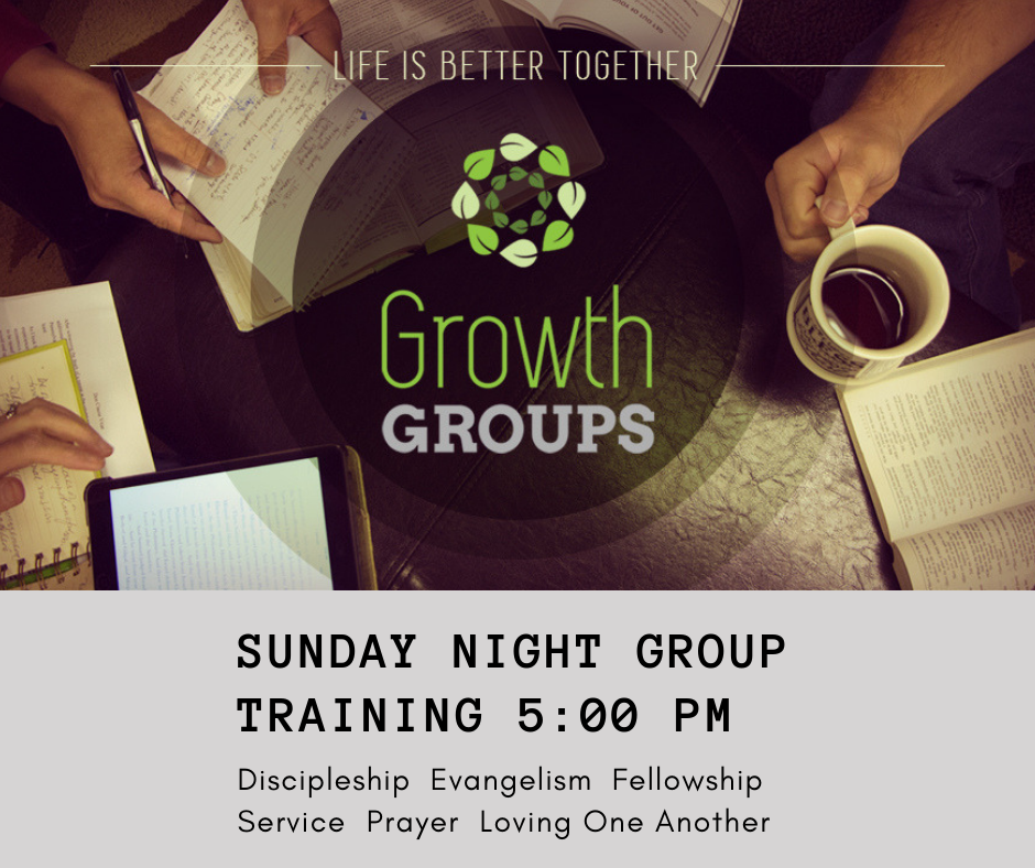Growth Group Sunday Night Fall Promo image