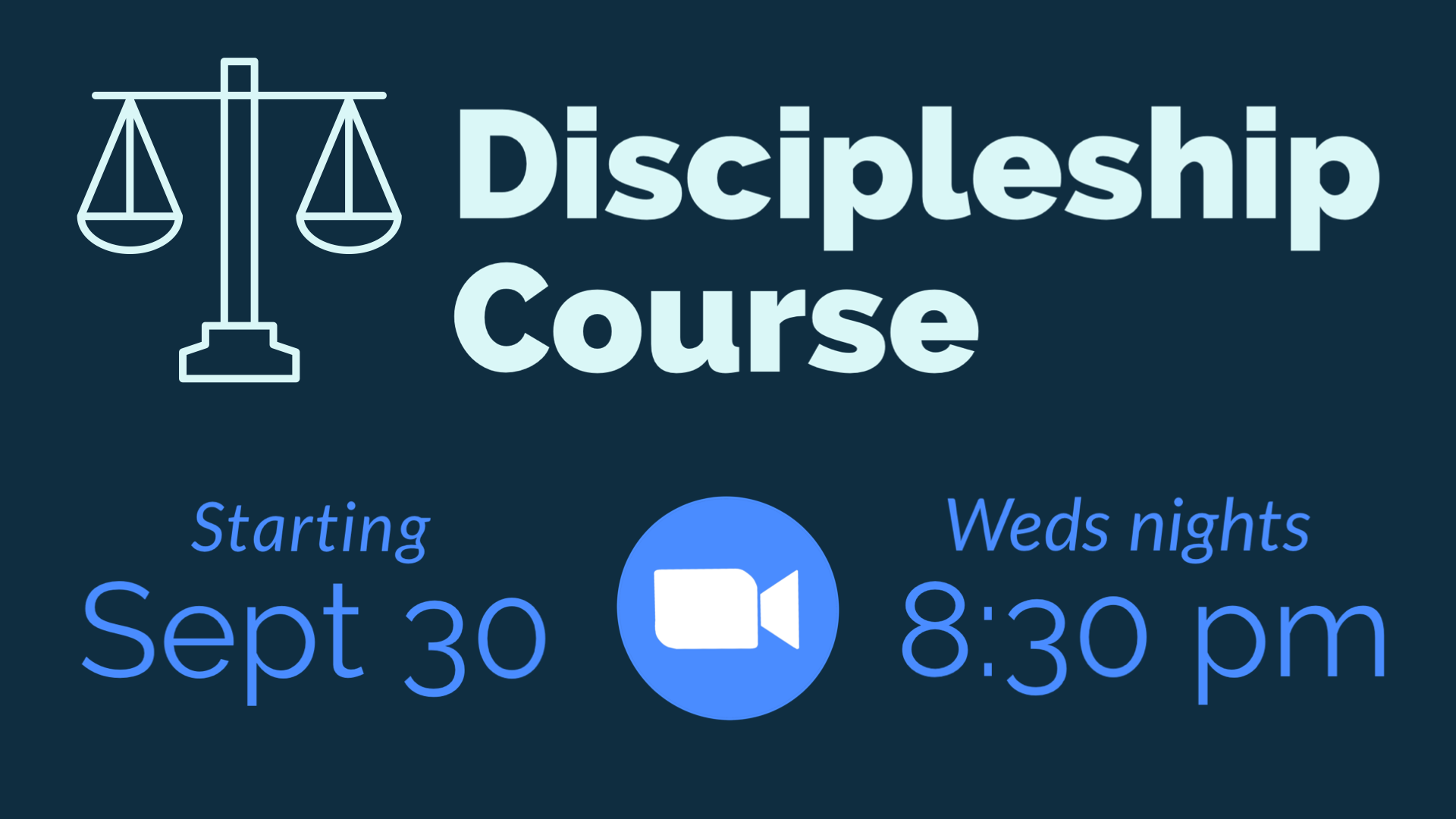Discipleship Social - Fall 2020 - Gathering Space graphic