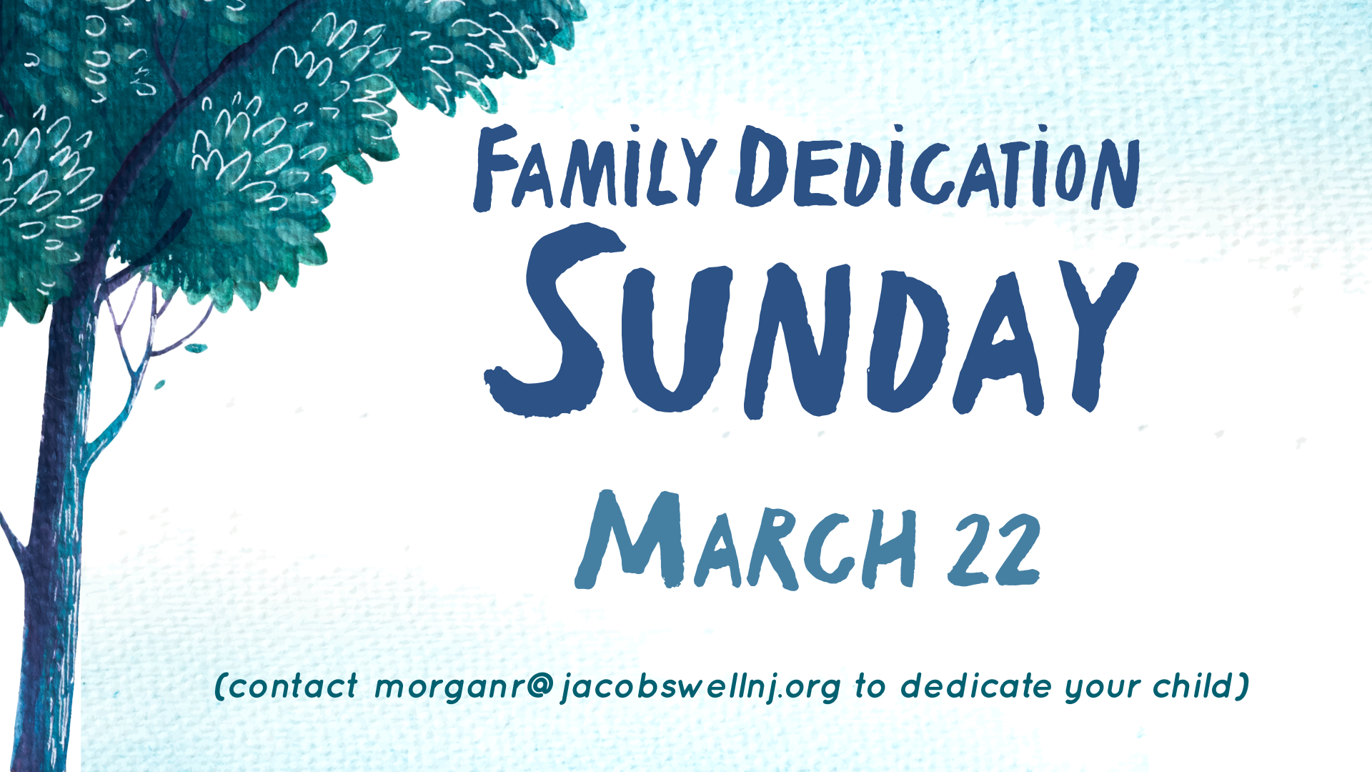 Family Dedication March 22 GS image