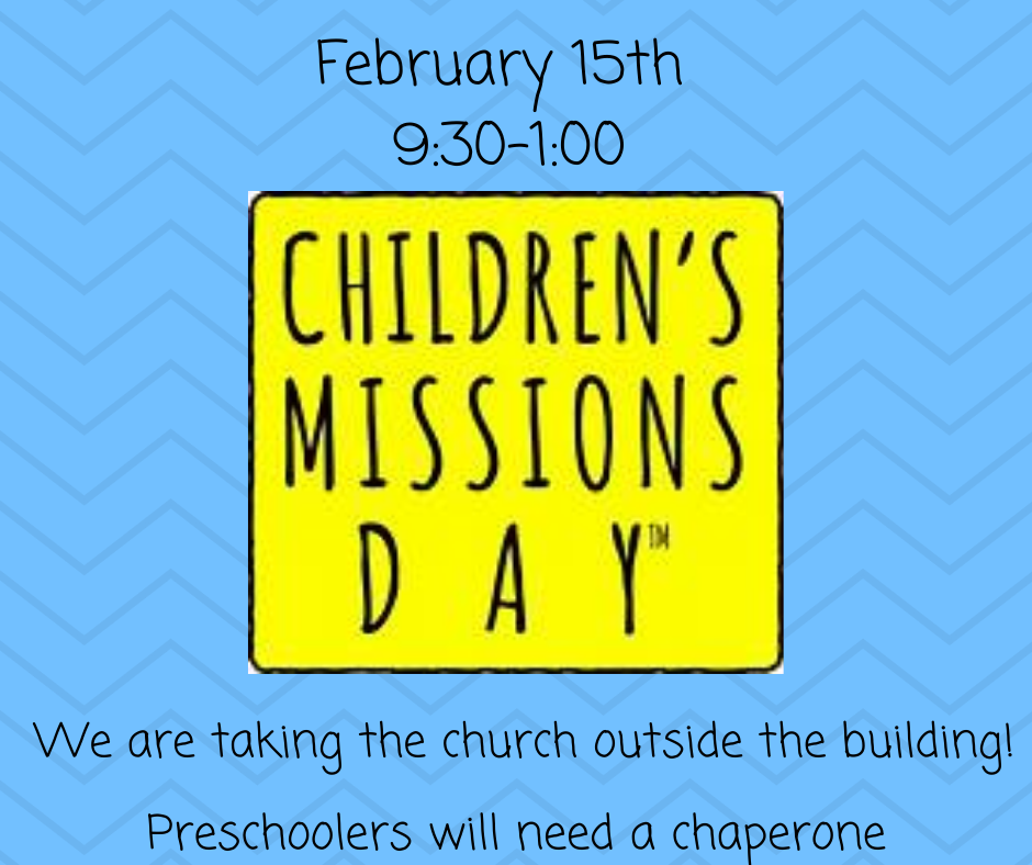 February 15th 9_30-1_00 Preschool children will need a chaperone!