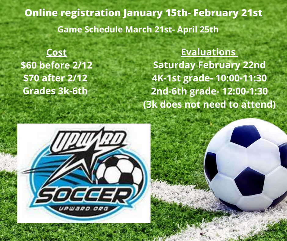 Online registration opens January 15th