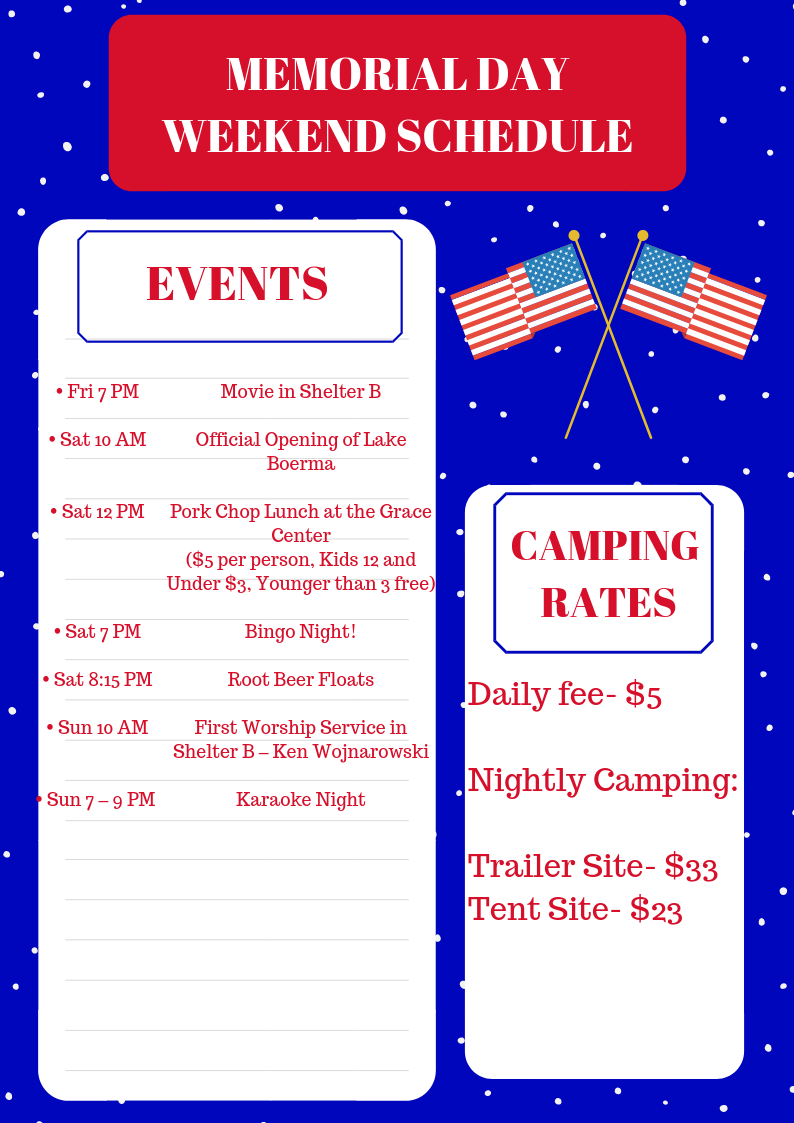 Memorial day schedule of events png 19